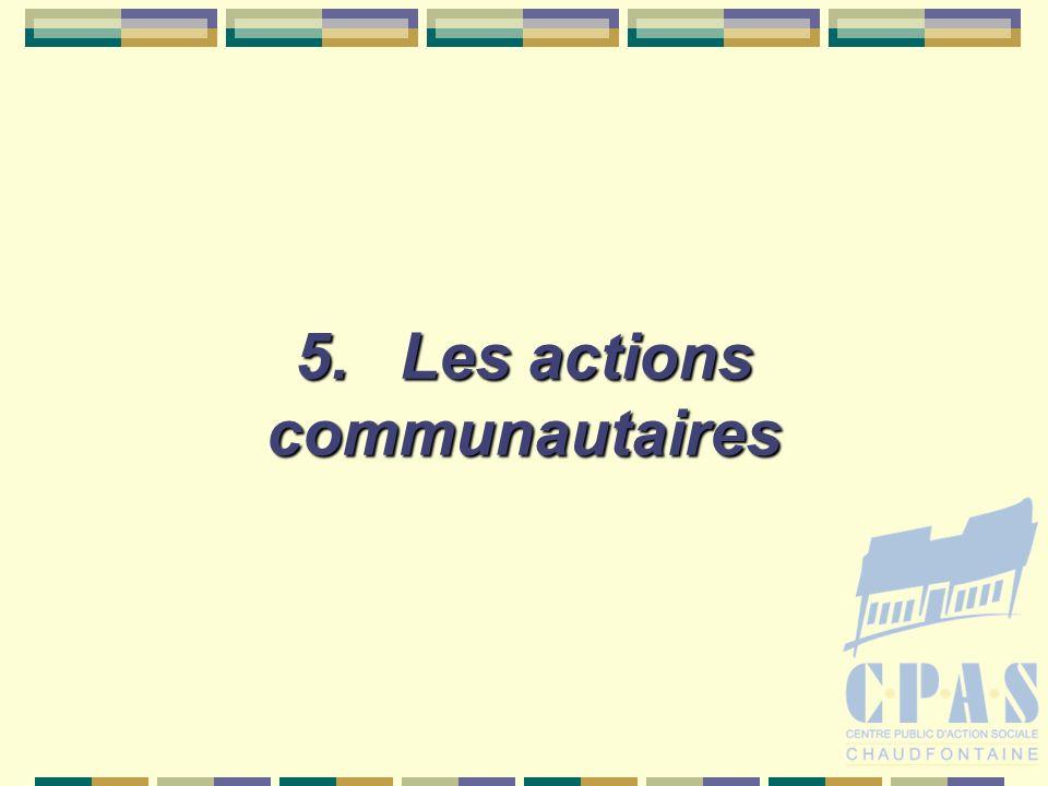 5.Les actions communautaires