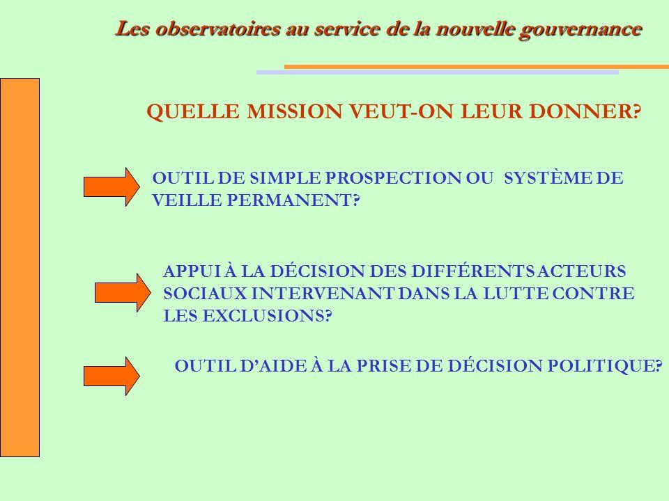 QUELLE MISSION VEUT-ON LEUR DONNER.OUTIL DE SIMPLE PROSPECTION OU SYSTÈME DE VEILLE PERMANENT.