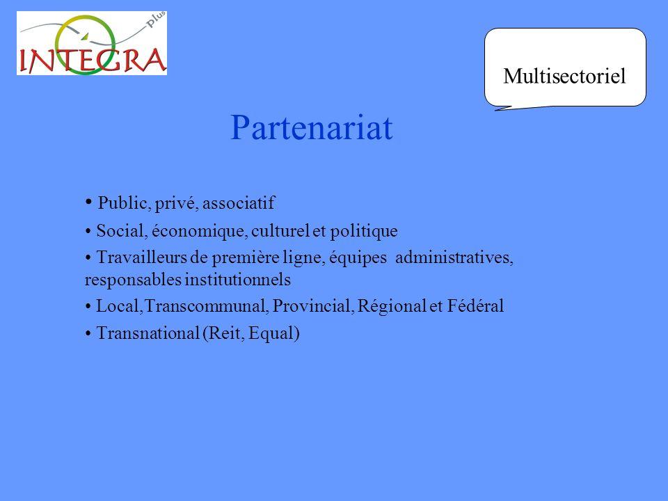 Partenariat Public, privé, associatif Social, économique, culturel et politique Travailleurs de première ligne, équipes administratives, responsables
