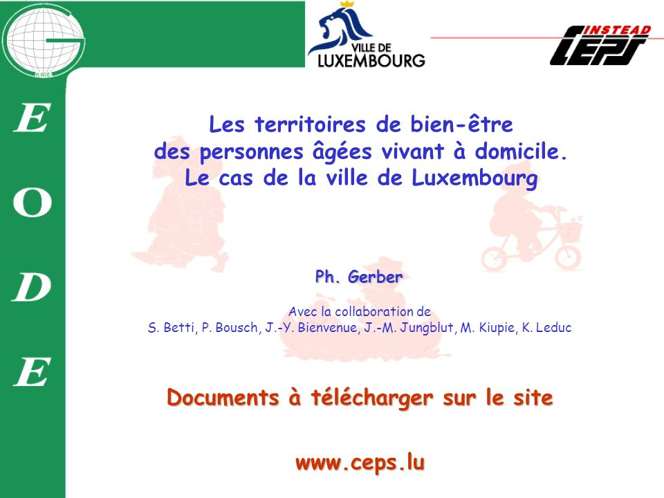 www.ceps.lu Documents à télécharger sur le site Ph.