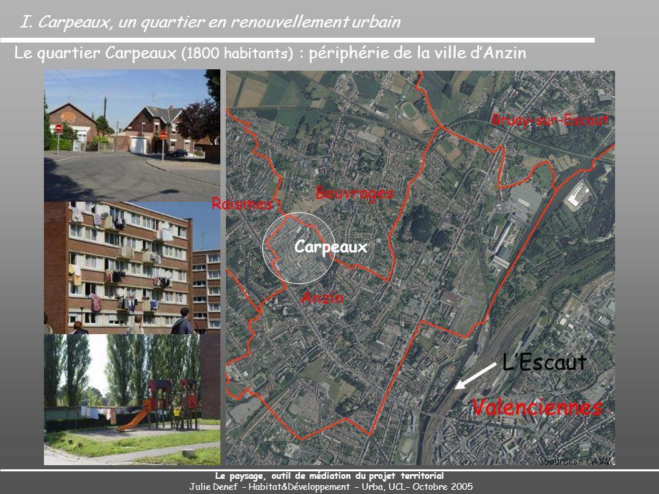 Beuvrages Anzin Carpeaux Bruay-sur-Escaut Valenciennes I. Carpeaux, un quartier en renouvellement urbain Le paysage, outil de médiation du projet terr