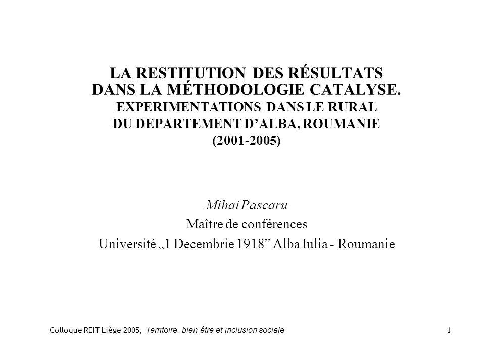 1.LA RESTITUTION DES RESULTATS ET SES TYPES 1.1.