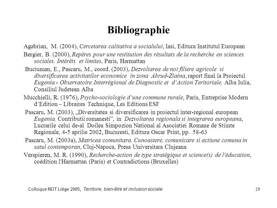 Bibliographie Agabrian, M.