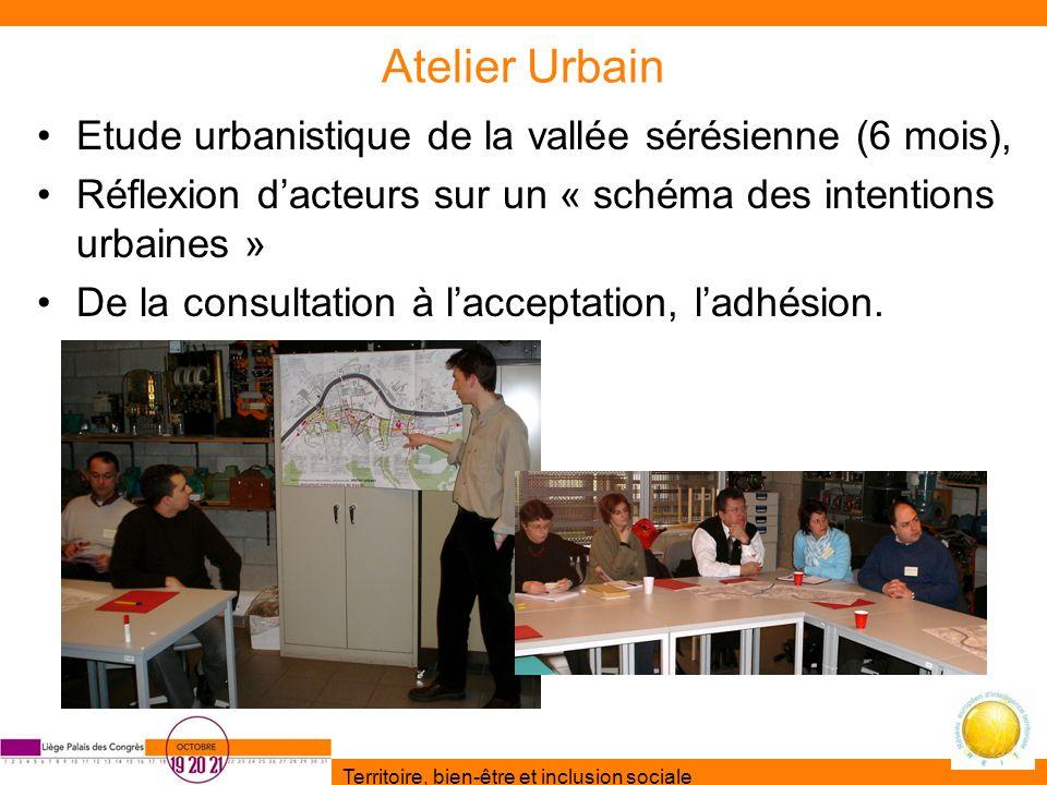 Territoire, bien-être et inclusion sociale Atelier Urbain Etude urbanistique de la vallée sérésienne (6 mois), Réflexion dacteurs sur un « schéma des
