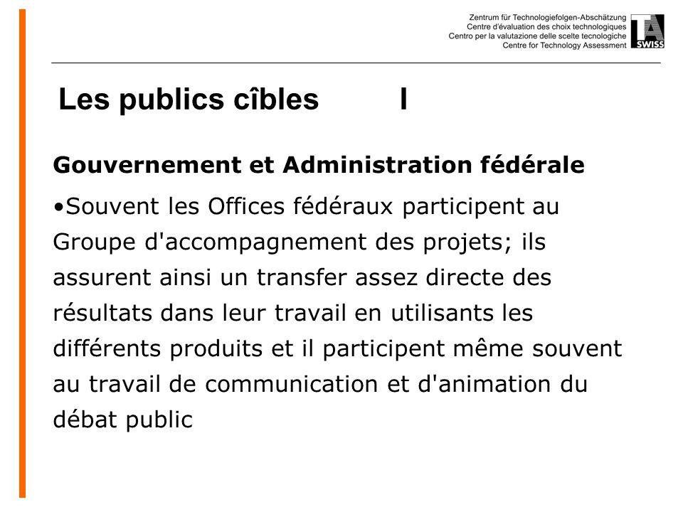 www.oeko.de Les publics cîbles I Gouvernement et Administration fédérale Souvent les Offices fédéraux participent au Groupe d'accompagnement des proje