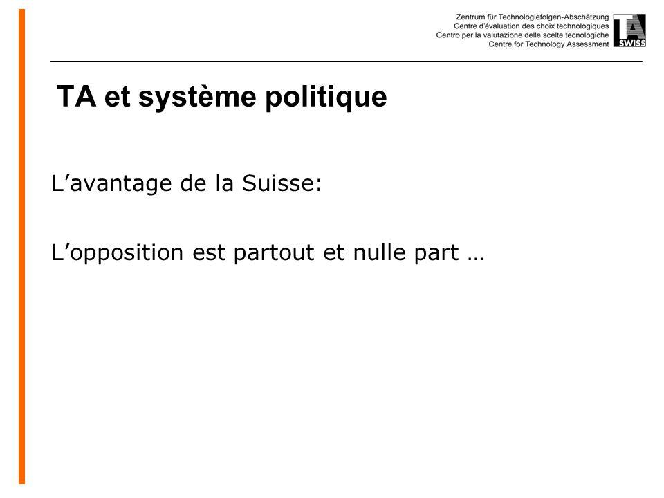 www.oeko.de TA et système politique Lavantage de la Suisse: Lopposition est partout et nulle part …