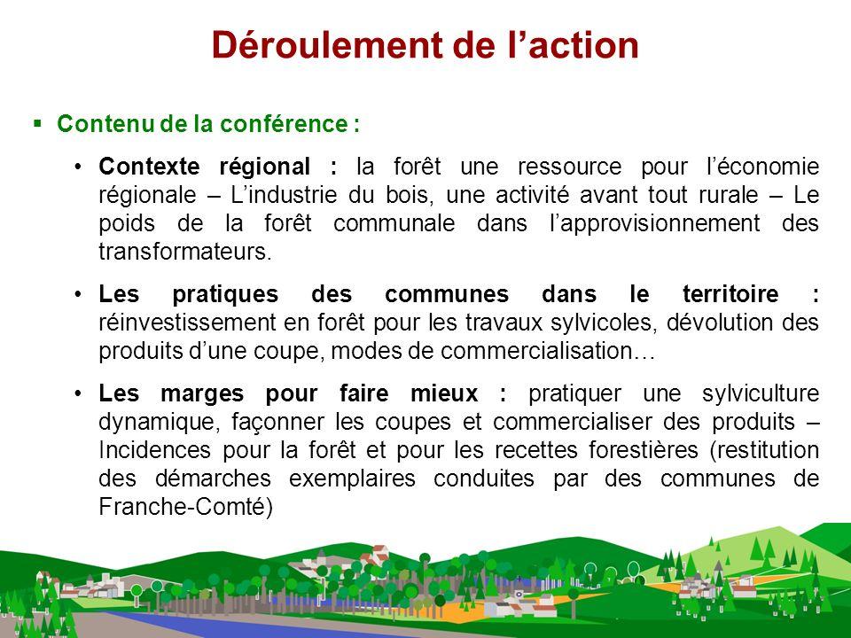 Contenu de la conférence : Contexte régional : la forêt une ressource pour léconomie régionale – Lindustrie du bois, une activité avant tout rurale – Le poids de la forêt communale dans lapprovisionnement des transformateurs.