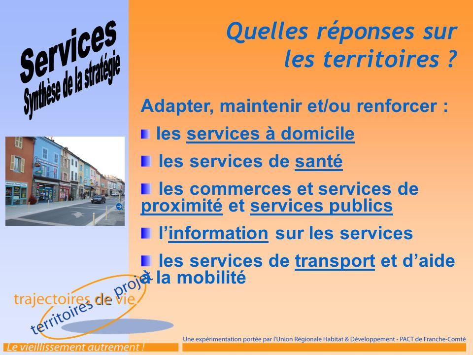 Adapter, maintenir et/ou renforcer : les services à domicile les services de santé les commerces et services de proximité et services publics linforma