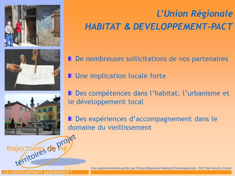 De nombreuses sollicitations de nos partenaires Une implication locale forte Des compétences dans lhabitat, lurbanisme et le développement local Des e