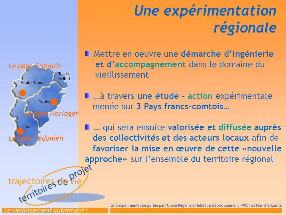 Une expérimentation régionale Mobiliser et sensibiliser les acteurs : Communautés de communes, Conseil Général, CLIC, services à domicile, CODERPA, UDAF, etc.