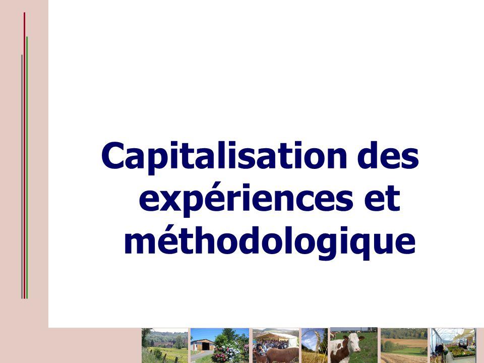Capitalisation des expériences et méthodologique