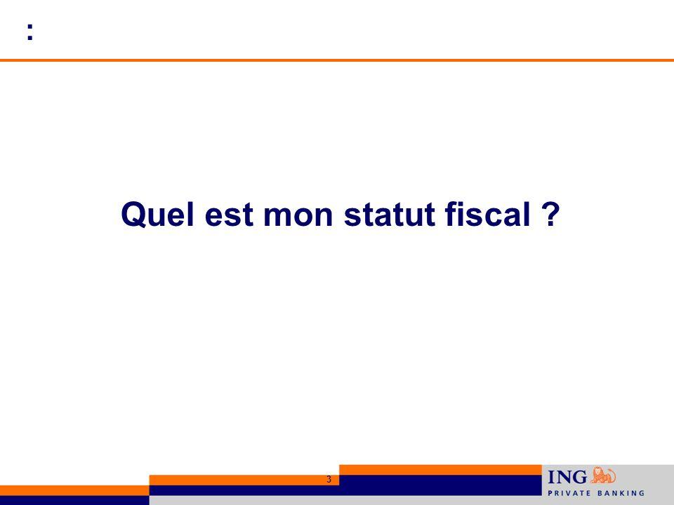 3 : Quel est mon statut fiscal ?
