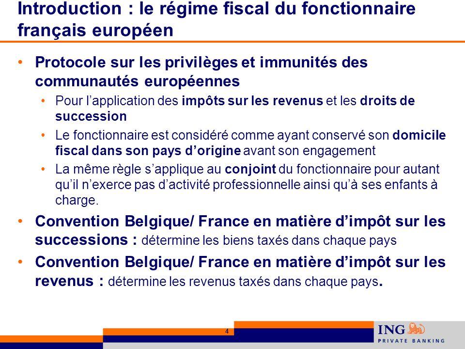 25 Donation par un résident belge à un résident français Perception par la France des droits de donation si le donataire a résidé en France pendant 6 ans durant les 10 dernières années.