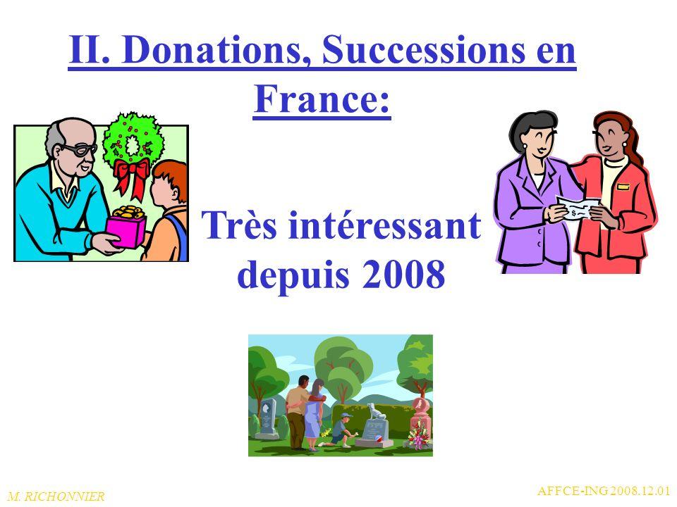 M. RICHONNIER AFFCE-ING 2008.12.01 I.C. Assurance vie en France: NB1: NB1: Pour les comparaisons entre Fr et Be, prendre en compte les taux dinflation