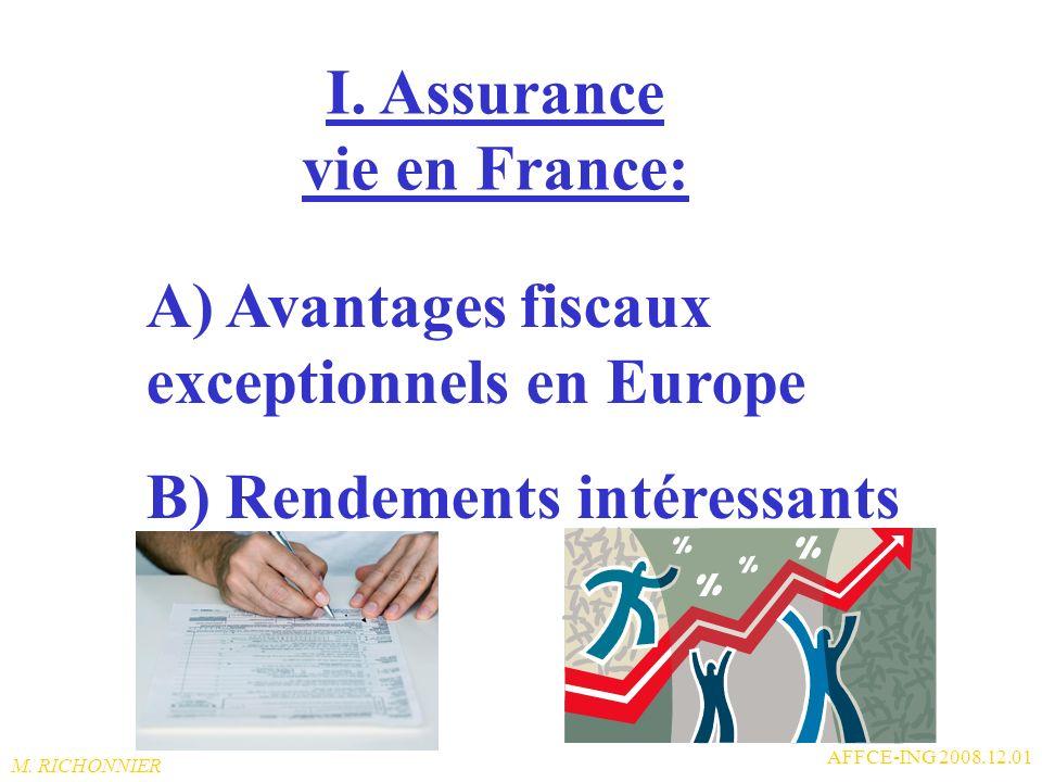 M. RICHONNIER AFFCE-ING 2008.12.01 I. Résidence fiscale France: En activité : concerne le fonctionnaire statutaire recrutés en FR par institutions eur