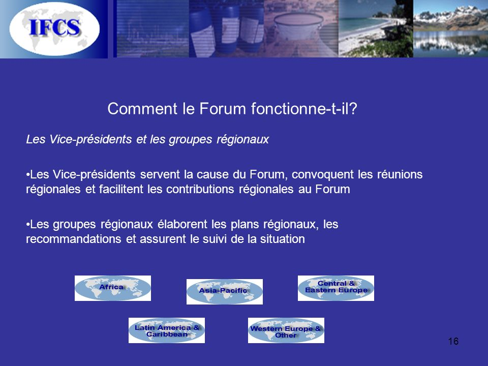 16 Comment le Forum fonctionne-t-il.