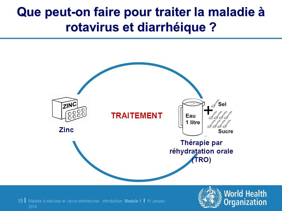 Maladie à rotavirus et vaccin antirotavirus : introduction, Module 1 | 11 January 2014 11 January 2014 10 | Que peut-on faire pour traiter la maladie