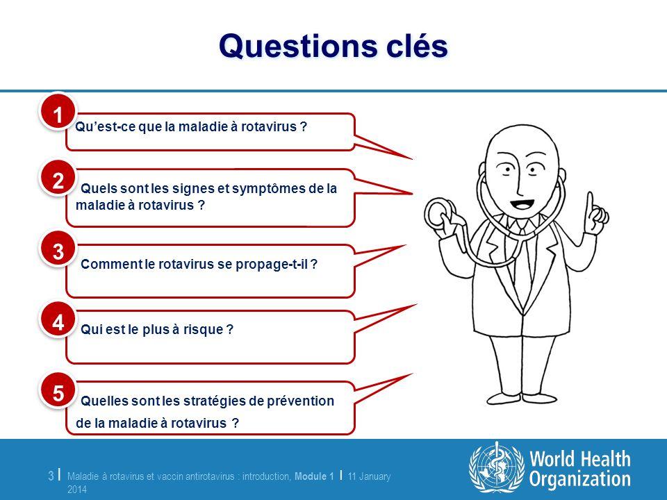 Maladie à rotavirus et vaccin antirotavirus : introduction, Module 1 | 11 January 2014 11 January 2014 3 |3 | Quels sont les signes et symptômes de la