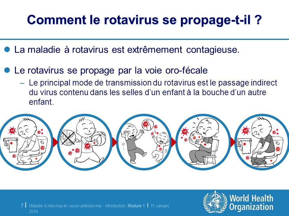 Maladie à rotavirus et vaccin antirotavirus : introduction, Module 1 | 11 January 2014 11 January 2014 7 |7 | La maladie à rotavirus est extrêmement c