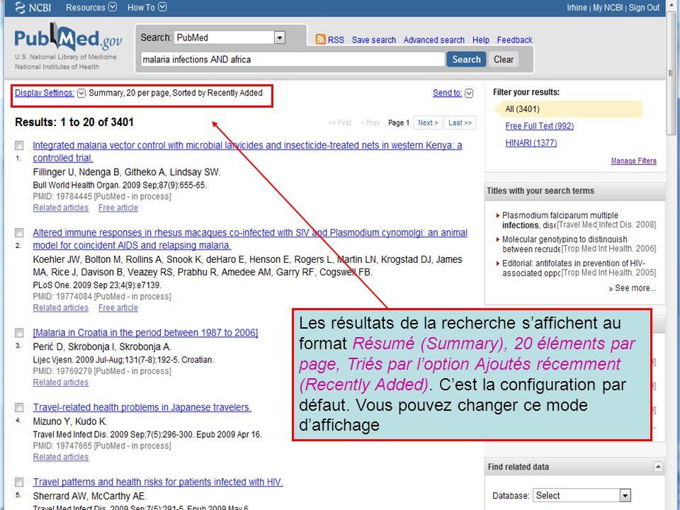 HINARI | July 2010 15 | Les résultats de la recherche saffichent au format Résumé (Summary), 20 éléments par page, Triés par loption Ajoutés récemment