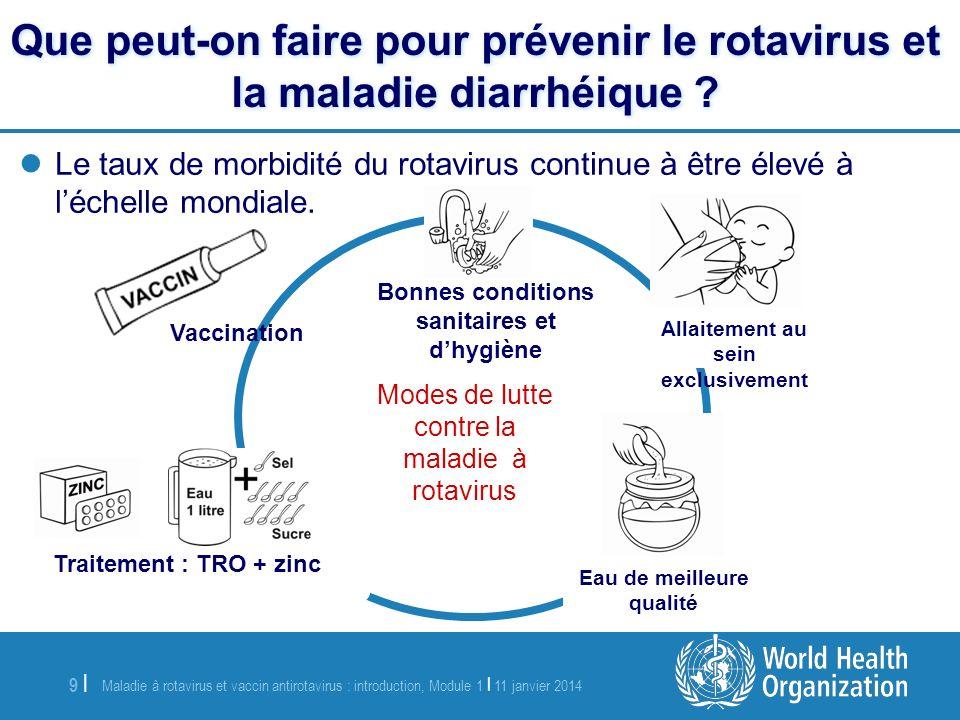 Maladie à rotavirus et vaccin antirotavirus : introduction, Module 1 | 11 janvier 2014 10 | Existe-t-il un vaccin contre le rotavirus .