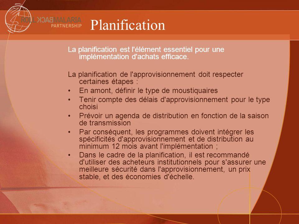 Planification La planification est l'élément essentiel pour une implémentation d'achats efficace. La planification de l'approvisionnement doit respect
