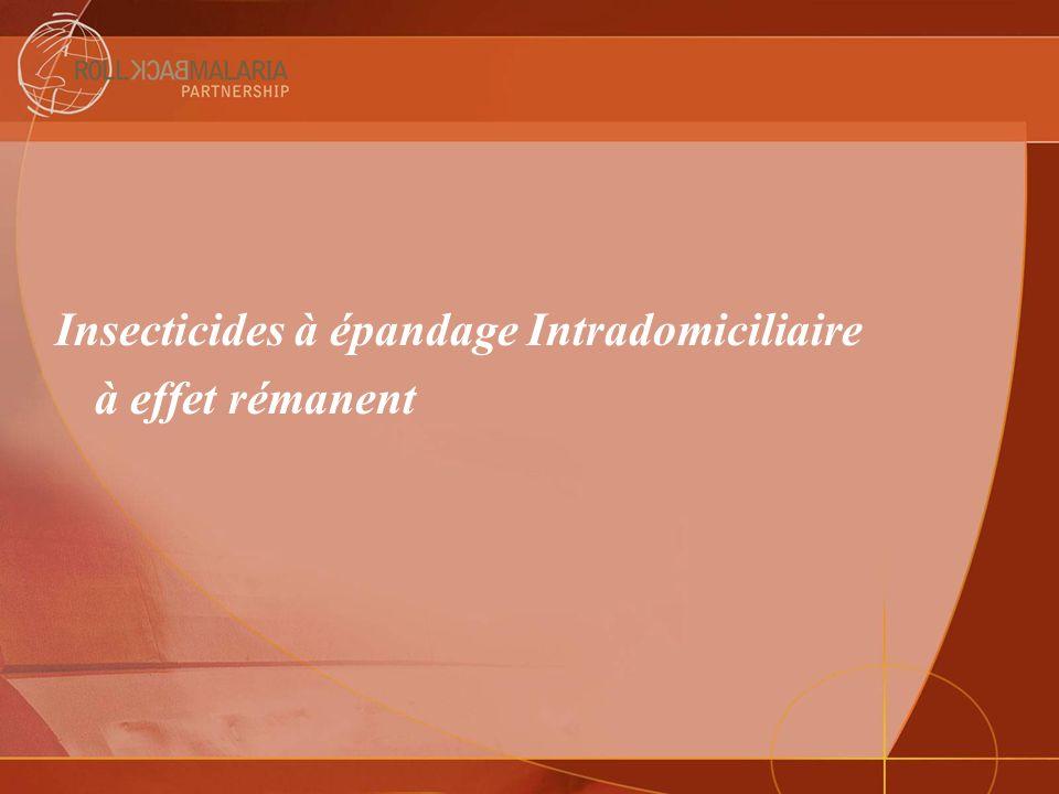 Insecticides à épandage Intradomiciliaire à effet rémanent