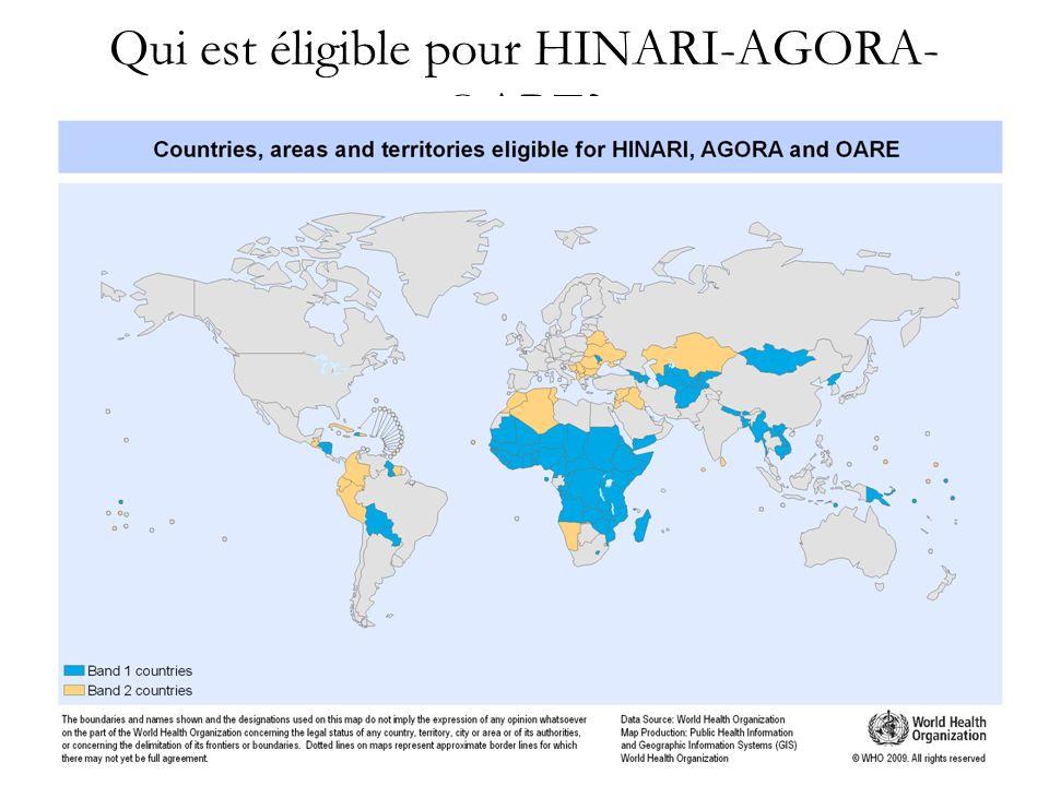Qui est éligible pour HINARI-AGORA- OARE?