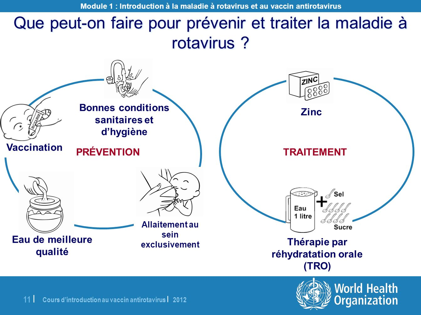 Cours dintroduction au vaccin antirotavirus | 2012 11 | Module 1 : Introduction à la maladie à rotavirus et au vaccin antirotavirus Bonnes conditions