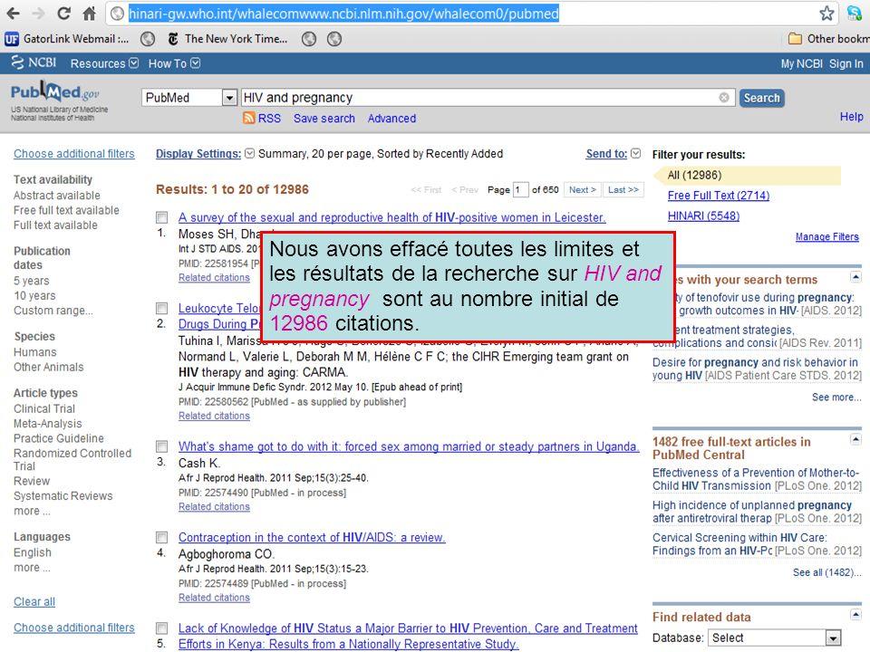 Notez que vous pouvez afficher ou cacher l index (Index list).