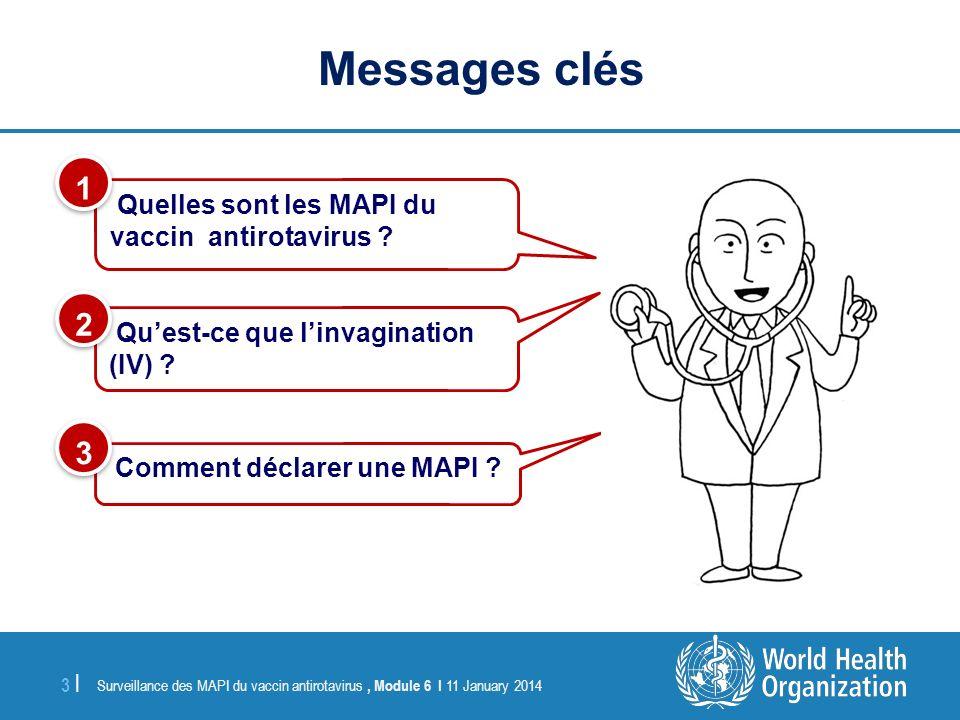 Surveillance des MAPI du vaccin antirotavirus, Module 6 I 11 January 2014 3 |3 | Quelles sont les MAPI du vaccin antirotavirus ? 1 1 Quest-ce que linv
