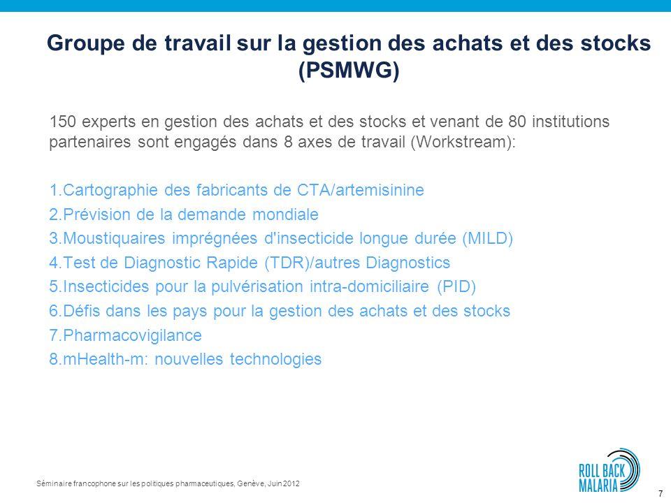 17 Séminaire francophone sur les politiques pharmaceutiques, Genève, Juin 2012 Merci