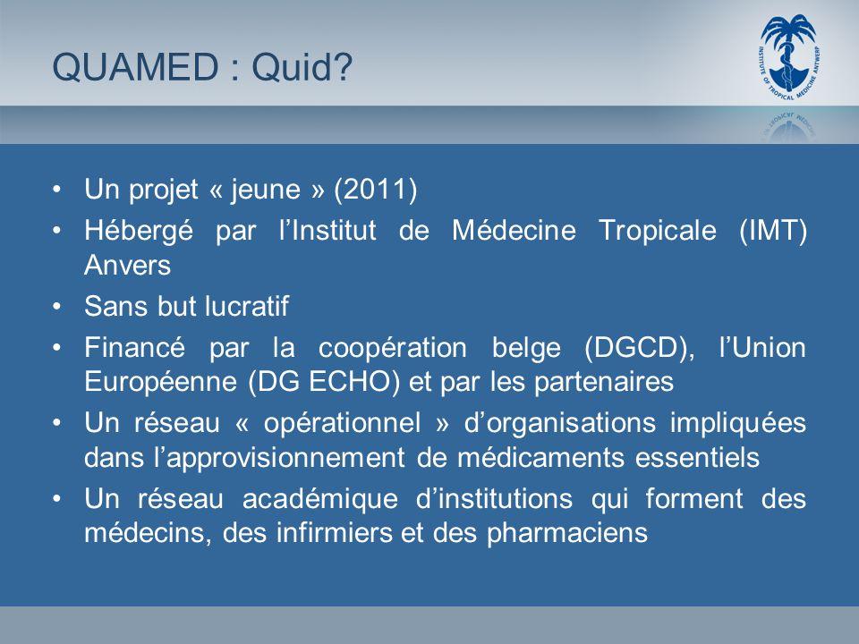 Un projet « jeune » (2011) Hébergé par lInstitut de Médecine Tropicale (IMT) Anvers Sans but lucratif Financé par la coopération belge (DGCD), lUnion