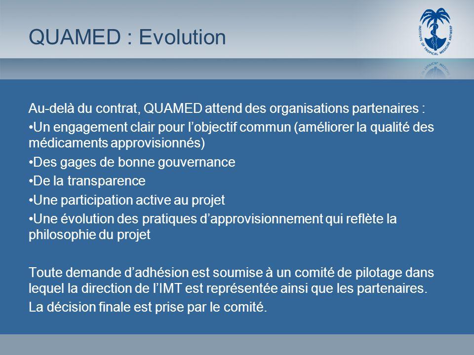 Au-delà du contrat, QUAMED attend des organisations partenaires : Un engagement clair pour lobjectif commun (améliorer la qualité des médicaments appr