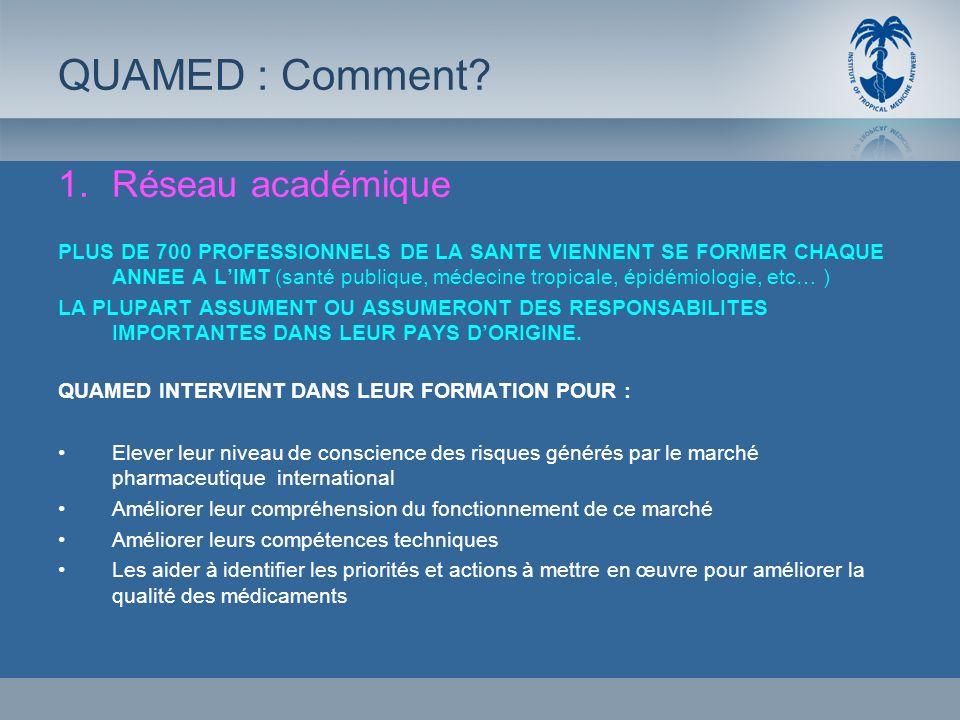 1.Réseau académique PLUS DE 700 PROFESSIONNELS DE LA SANTE VIENNENT SE FORMER CHAQUE ANNEE A LIMT (santé publique, médecine tropicale, épidémiologie,