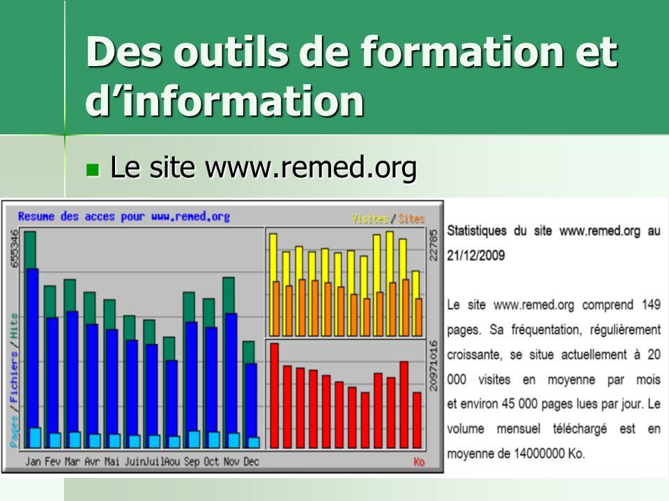 ReMeD-CB-juin 201110 Des outils de formation et dinformation Le site www.remed.org Le site www.remed.org