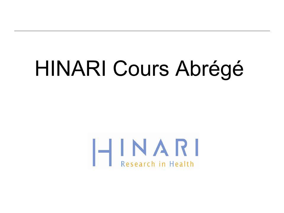 HINARI Cours Abrégé