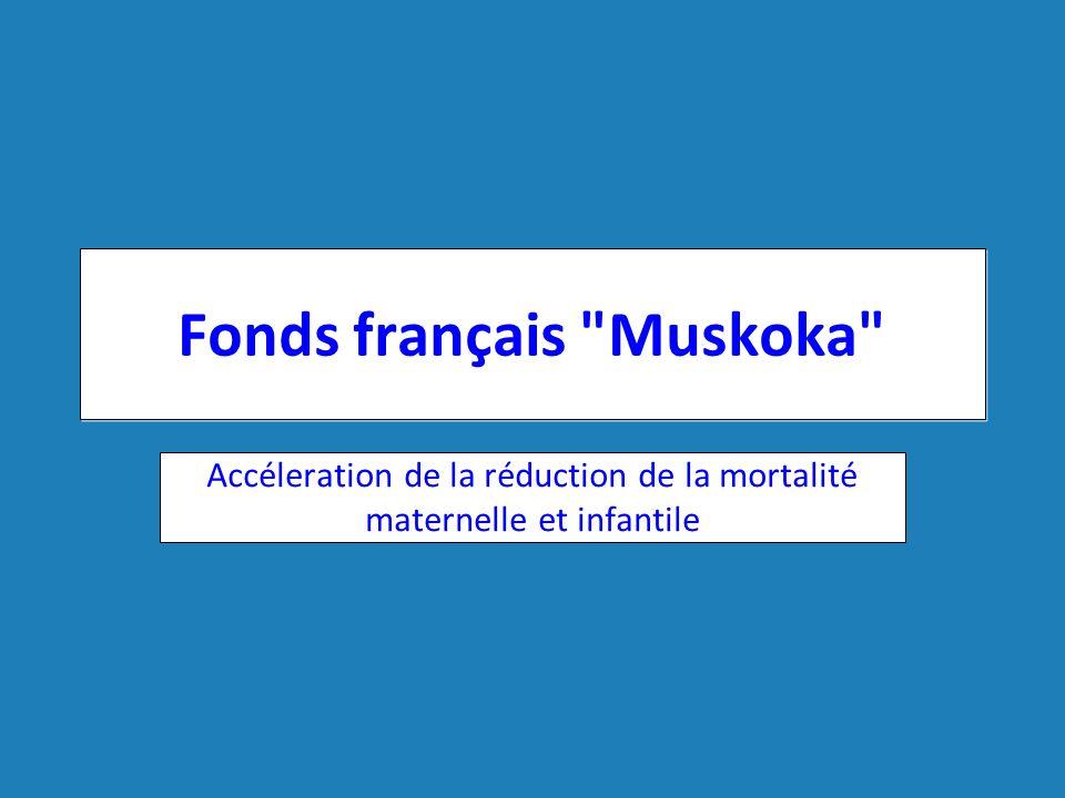 Séminaire sur les Politiques Pharmaceutiques | 15 juin 2012 Fonds français Muskoka Engagements des pays du G8 lors du sommet en 2010 Une approche intégrée pour accélérer les progrès vers les OMD 4 et 5 Engagement total: 500 millions d euros sur 5 ans 95 millions d euros sur 5 ans pour l aide multilatérale Année 1 entamée, année 2 assurée