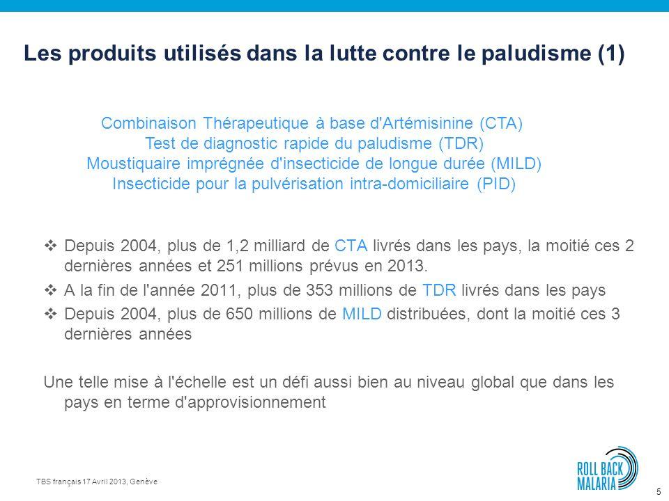 5 TBS français 17 Avril 2013, Genève Depuis 2004, plus de 1,2 milliard de CTA livrés dans les pays, la moitié ces 2 dernières années et 251 millions prévus en 2013.