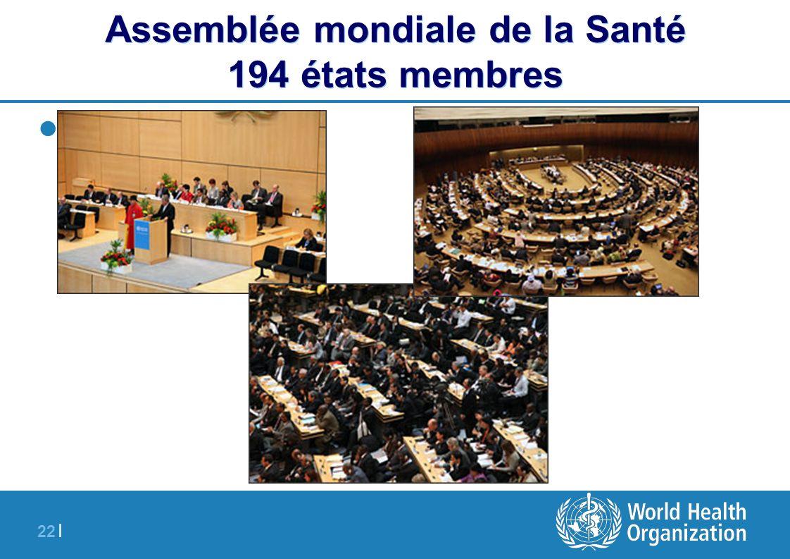 22 | Assemblée mondiale de la Santé 194 états membres - SSFFC
