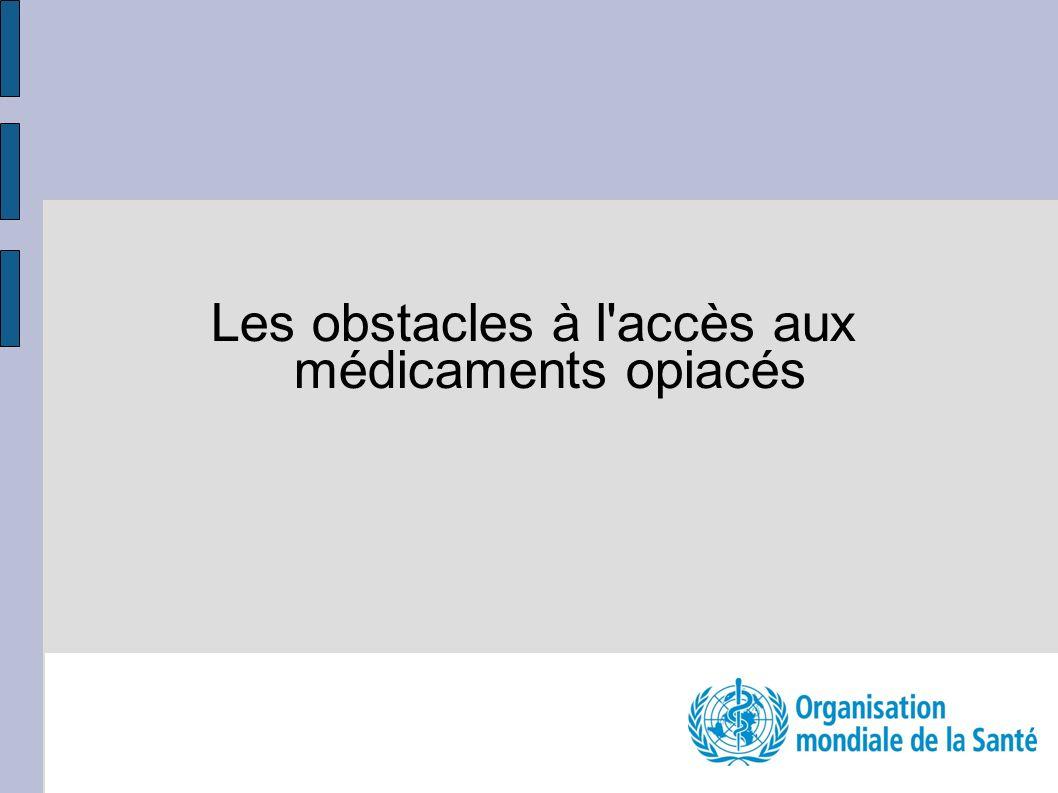 Les obstacles à l'accès aux médicaments opiacés