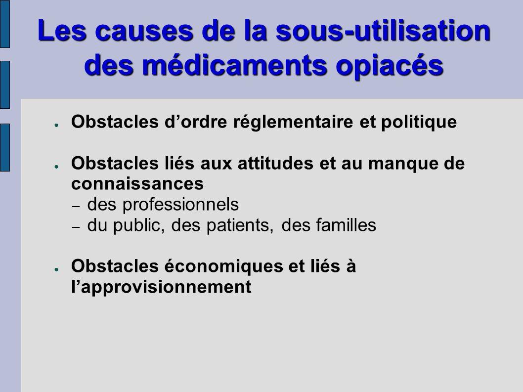 Obstacles dordre réglementaire et politique Obstacles liés aux attitudes et au manque de connaissances – des professionnels – du public, des patients,