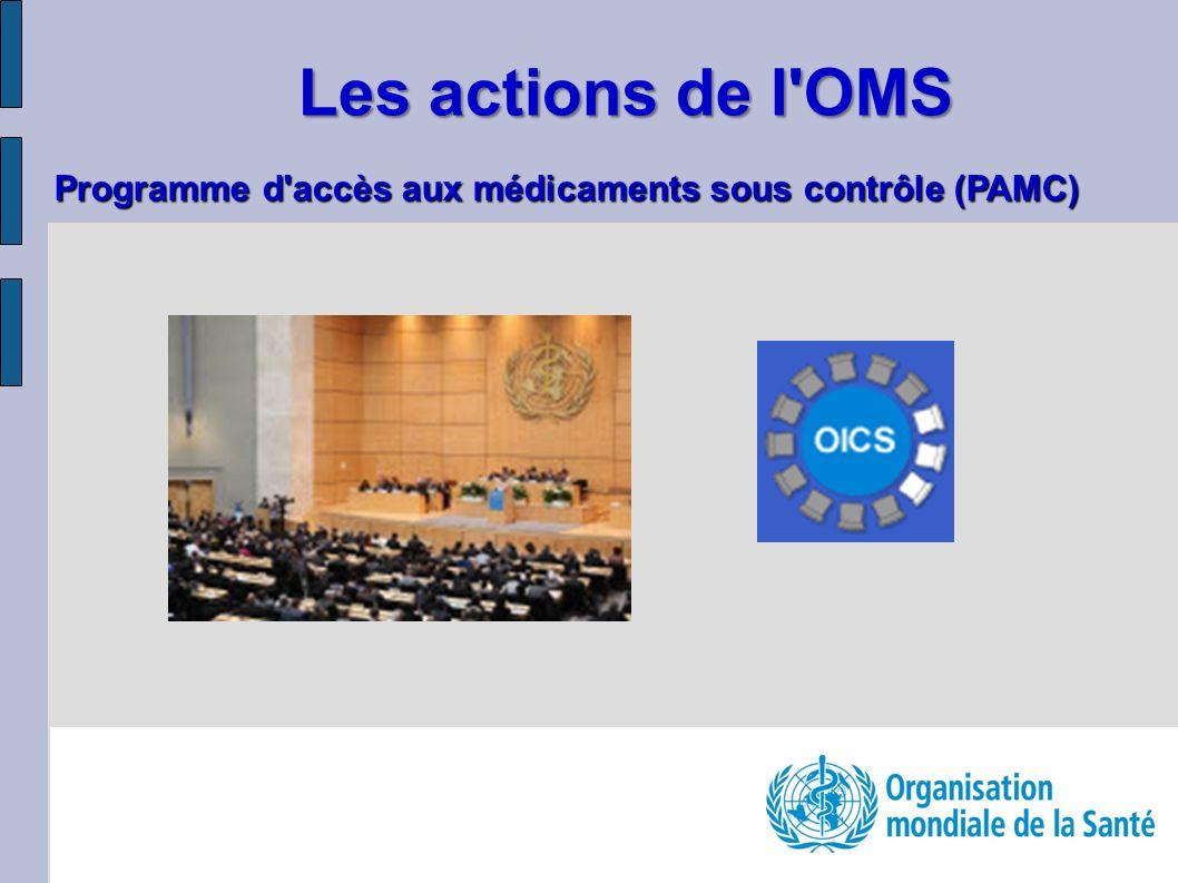 Les actions de l'OMS Programme d'accès aux médicaments sous contrôle (PAMC)