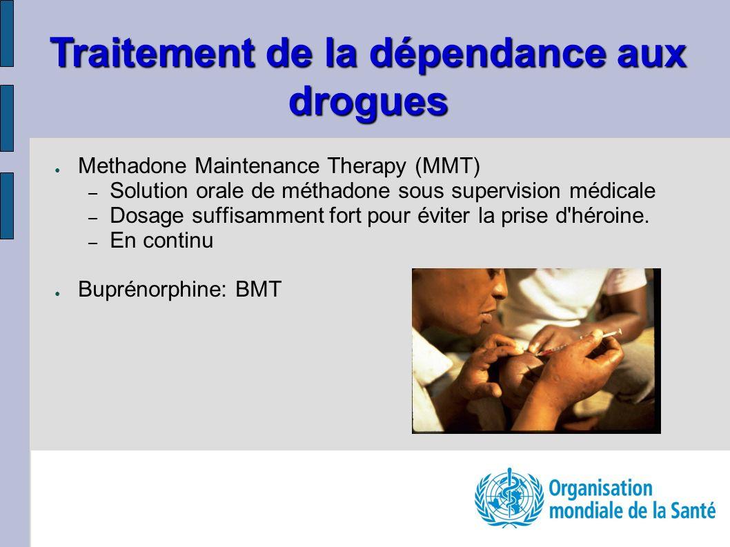 Methadone Maintenance Therapy (MMT) – Solution orale de méthadone sous supervision médicale – Dosage suffisamment fort pour éviter la prise d'héroine.