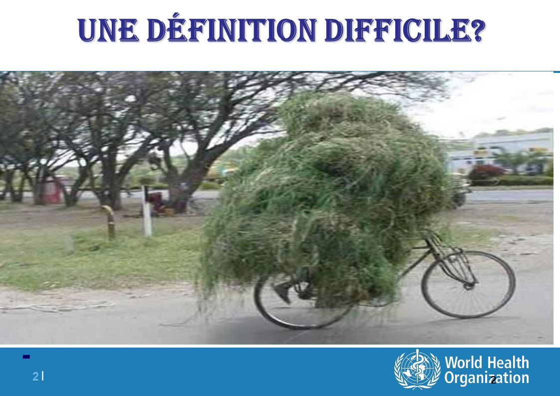 2 |2 | 2 Une définition difficile? -