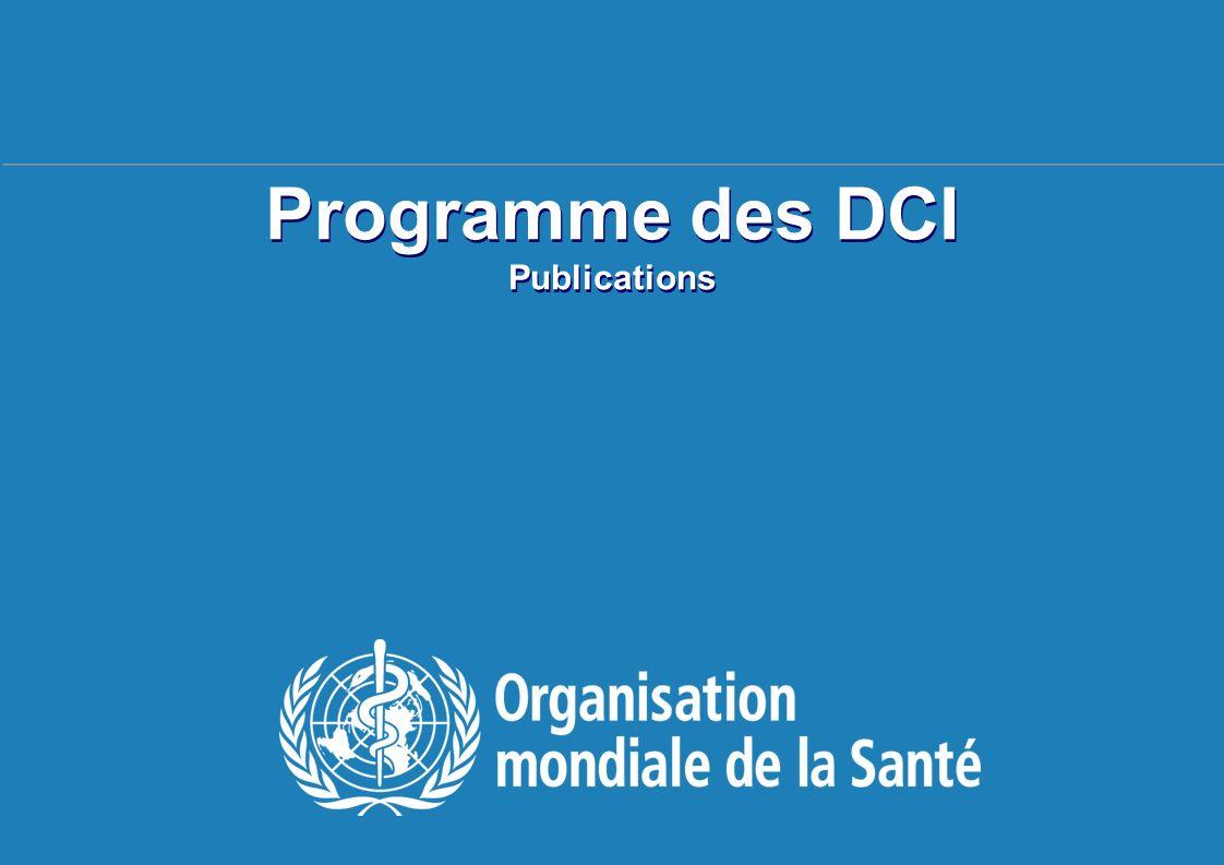 TBS français 20-24 avril 2009, Genève Programme des DCI Publications
