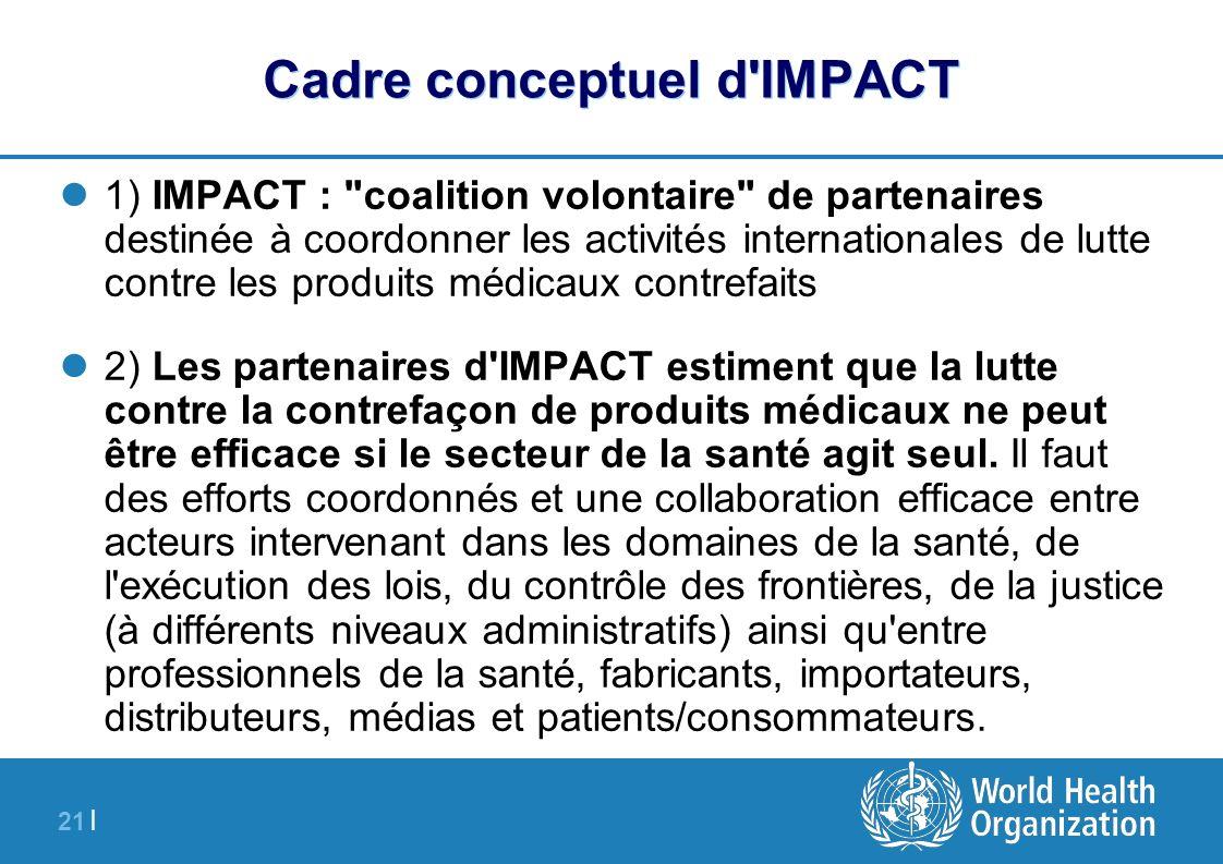 21 | Cadre conceptuel d'IMPACT 1) IMPACT :