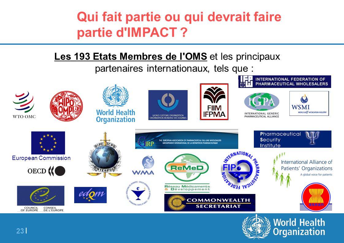 23 | Qui fait partie ou qui devrait faire partie d'IMPACT ? Les 193 Etats Membres de l'OMS et les principaux partenaires internationaux, tels que : Eu