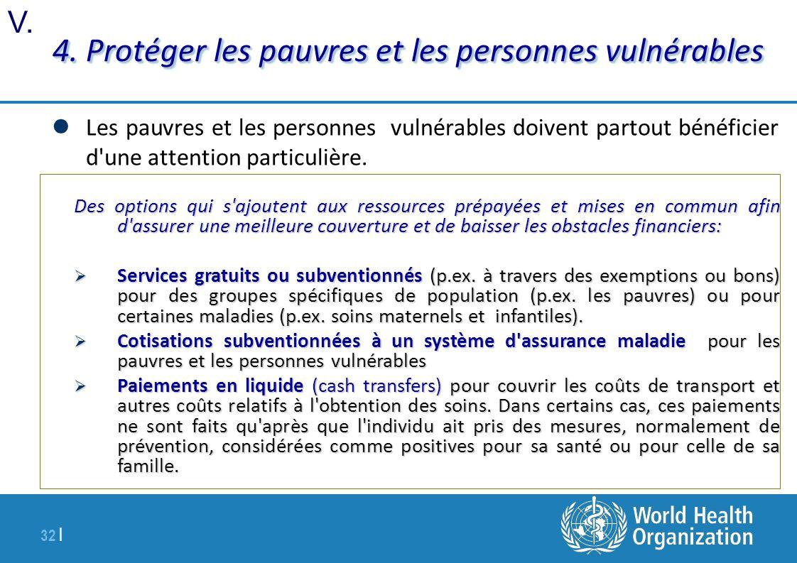 32 | 4. Protéger les pauvres et les personnes vulnérables Les pauvres et les personnes vulnérables doivent partout bénéficier d'une attention particul