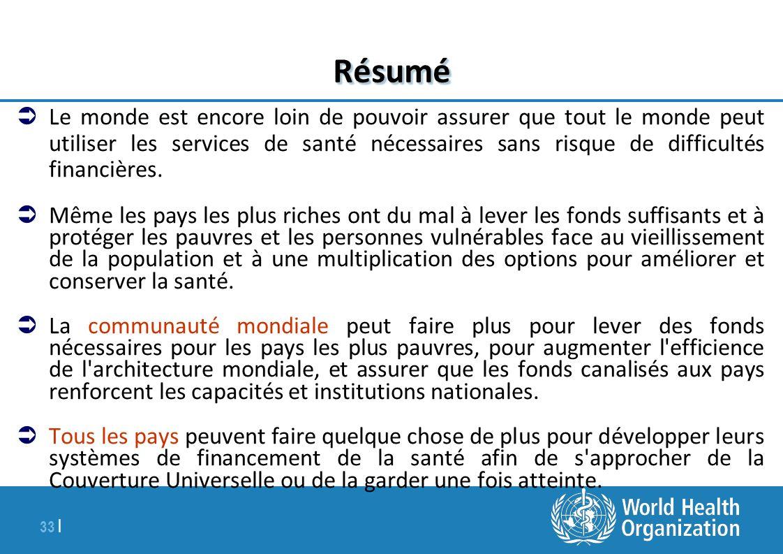 34   Le Rapport Pour plus – le Rapport sur la santé dans le monde 2010: http://www.who.int/whr/fr/index.html